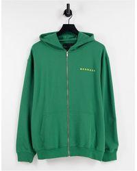 Mennace Co-ord Zip Thru Hoodie - Green