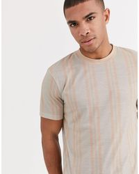 ASOS Vertical Stripe T-shirt - White