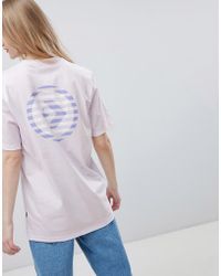 Converse - Cons Skate Boarding T-shirt In Lilac With Back Print - Lyst