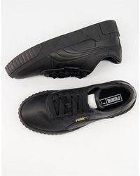 PUMA Черные Кроссовки Cali Wns-черный Цвет