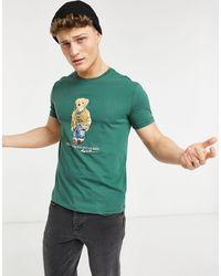 Polo Ralph Lauren T-shirt à imprimé ours - forêt délavé - Vert