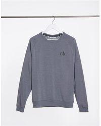 Calvin Klein Серый Меланжевый Свитшот С Круглым Вырезом
