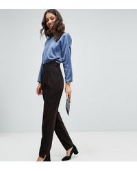 ASOS Asos Design Tall High Waist Tapered Trousers - Black