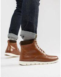 KG by Kurt Geiger Kg By Kurt Geiger Gregory Hybrid Sole Leather Cuff Boots - Brown