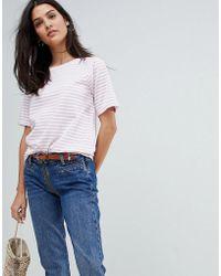 M.i.h Jeans High Neck Stripe Top - Multicolour