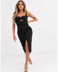 Significant Other Paloma Bustier Midi Dress - Black