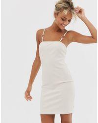 Glamorous Vestidop estilo camisola con detalle - Multicolor