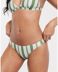 Rhythm Hamptons Cheeky Hipster Bikini Bottom - Green