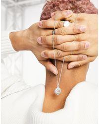 ASOS Skinny Neckchain With Coin Pendant - Metallic