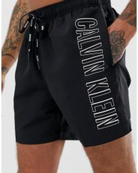 9481cfb914 Calvin Klein Intense Power Swim Shorts in Blue for Men - Lyst