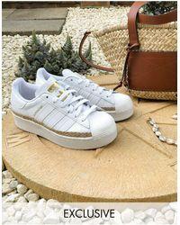 adidas Originals – Superstar Bold – e Sneaker mit Schnurdetail, exklusiv bei ASOS - Weiß