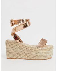 SIMMI Shoes Alpargatas con plataforma plana y adornos - Multicolor