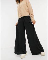 New Look Wide Leg Trouser - Black