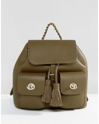 Marc B. - Double Pocket Backpack With Tassel Detail - Lyst