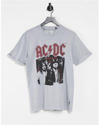 Only & Sons T-shirt With Acdc Print - Grey
