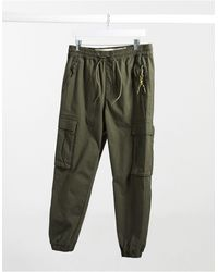 Pull&Bear Cargo Trouser With Pockets - Green