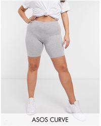 ASOS Leggings cortos básicos en color gris marga