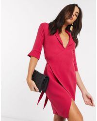 Vesper Розовое Платье С Запахом -розовый