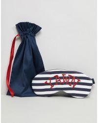 ASOS - Design Yawn Eye Mask & Bag - Lyst