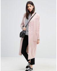 ASOS - Swing Coat In Wool Mix - Lyst