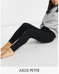 ASOS Asos Design Petite Mix & Match Jersey Pyjama legging - Black