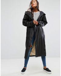 ASOS - Maxi Raincoat With Borg Lining - Lyst
