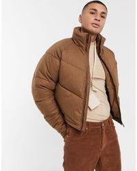 ASOS Cropped Puffer Jacket - Orange