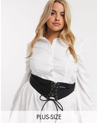 ASOS Asos Design Curve - Elastische Tailleriem - Zwart