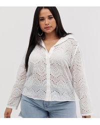 Boohoo Broderie Shirt In White