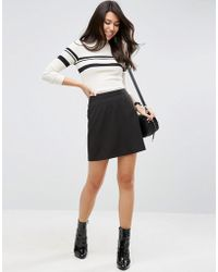 ASOS Tailored A-line Mini Skirt - Black