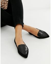 River Island Loafers With Pointed Toe - Black