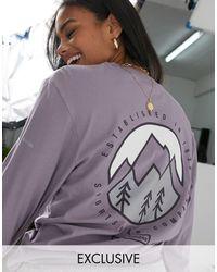 Columbia In esclusiva per ASOS - - Cades Cove - T-shirt a maniche lunghe viola