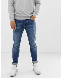 Levi's Skinny-fit Jeans Met Normale Taille In Bubbles Street Mid Wash - Blauw
