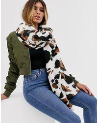 ASOS Cow Print Long Scarf - Multicolor