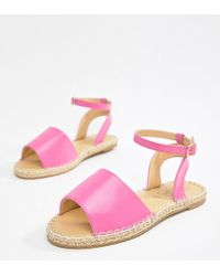 Truffle Collection - Espadrille Flat Sandals - Lyst