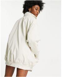 ASOS Светло-бежевая Удлиненная Куртка Из Выбеленной Холщовой Ткани - Многоцветный