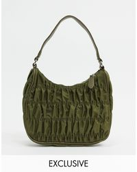 Glamorous Exclusive Ruched Shoulder Bag - Green