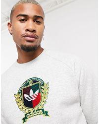 adidas Originals Co-ord Sweatshirt With Collegiate Crest - Gray