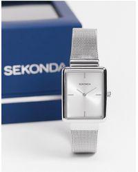 Sekonda Womens Square Watch With White Dial - Metallic