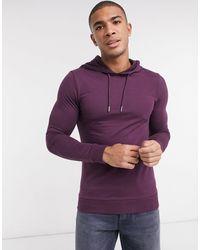 ASOS - Sudadera con capucha ajustada en violeta - Lyst