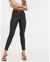New Look Jegging enduit en similicuir - Noir