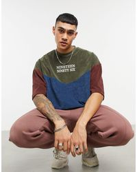 ASOS Oversized T-shirt With Text Embroidery - Multicolour