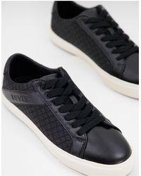 Levi's Черные Кроссовки На Шнурках Woodward-черный Цвет