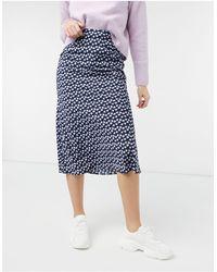 Glamorous Фиолетовая Юбка Миди С Мелким Цветочным Принтом -фиолетовый Цвет - Пурпурный
