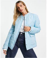 ALIGNE Diamond Quilted Jacket - Blue