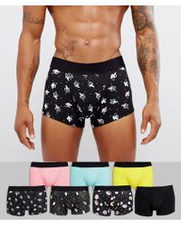 ASOS - Hipsters With Food Print 7 Pack Save - Lyst