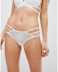 New Look | Strapping Lace Brazillian Brief | Lyst