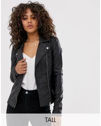 Y.A.S Leather Biker Jacket - Black