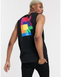 ASOS Tetris - Ruimvallend Mouwloos T-shirt Met Print - Zwart