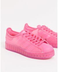 adidas Originals Розовые Кроссовки Superstar Jelly-фиолетовый - Пурпурный